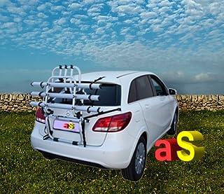 Autoshop FI1801K3 - Portabicicletas trasero de aluminio para coche