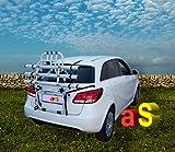 autoSHOP NS1801K3 - Portabicicletas para puerta trasera de aluminio para coche