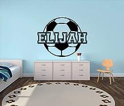 Soccer Custom Name Vinyl Wall Decal Sticker for Boys or Girls
