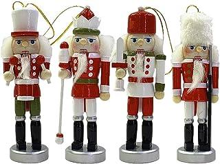LUNK Nutcracker Ornament Set, Wooden Nutcracker Christmas Ornament, Nutcracker Puppet, Christmas Party Scene Decoration Ornament Cookie Man