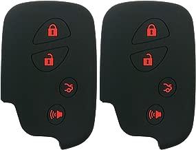 Coolbestda 2X Key Fob Case Skin Keyless Entry Remote Holder for Lexus RX350 ES350 IS250 GX460 LX570 IS350 GS430 GS300 GS450h is-C is-F HYQ14AEM HYQ14ACX GX460