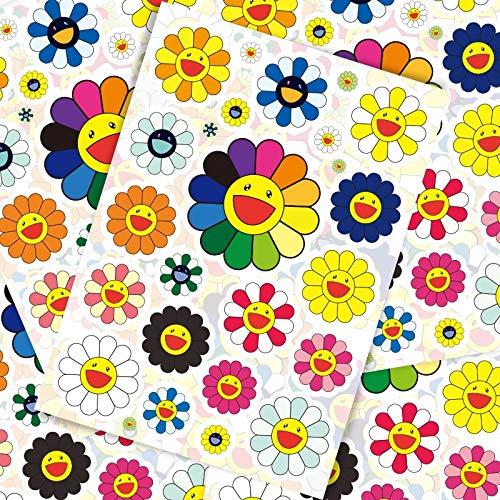 BLOUR 22 Piezas Sun Flower Art Personalidad Marea Marca Equipaje Maleta Pegatinas Trolley Case Laptop Stickers