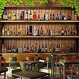 rylryl Photo Papier Peint Moderne Simple 3D Stéréo Cave À Vin Bouteille De Vin Mural Restaurant Café Bar Fond Mur-400x280cm