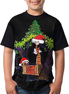 PACKAGE Calvin-and-Hobbes Boys 3D Printed T-Shirt Kids Teenagers Short Sleeve Shirts