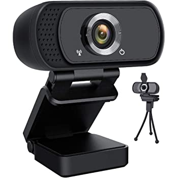 HD Webcam 1080P,Lasllaves Live Streaming Webcam USB Plug and Play Web Camera for PC Laptop Desktop,110 Degree Wide Angle Webcam with Microphone for Video Conference Recording Gaming Skype XBox One OBS