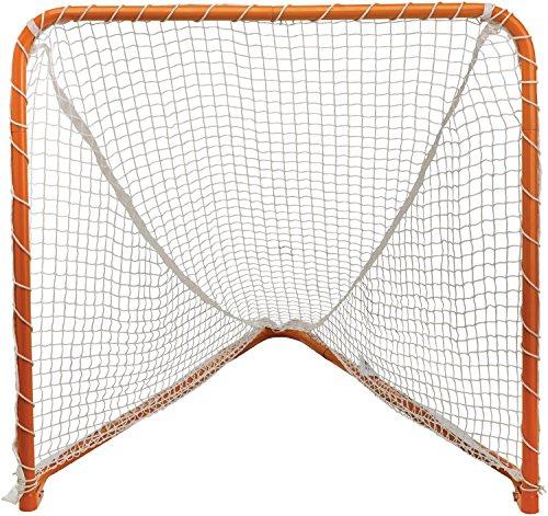 STX Lacrosse Folding Backyard Lacrosse Goal, Orange, 6 x 6-F