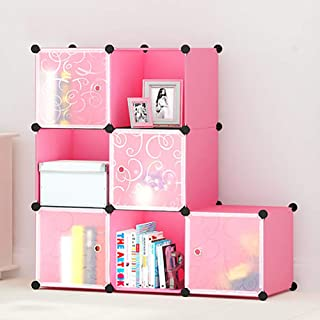 Portable Cubes Bookshelf, Space-saving Resin Book Rack Multi-function Storage Organizer Shelf For Living Room, Office-u