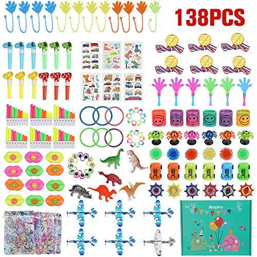 Anpro 138 Mitgebsel Kleinspielzeug Set, Party Favor Spielzeug Party Belohnungen für Kindergeburtstagsparty, Karnevalspreise, Halloween, Gastgeschenke