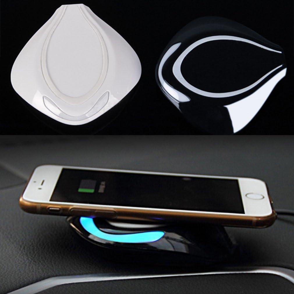 Aursen® Diseño Atractivo Cargador Qi Wireless Carga para Samsung S6/S6Edge/S7/S7Edge Negro Negro Fisch Modell Schwarz