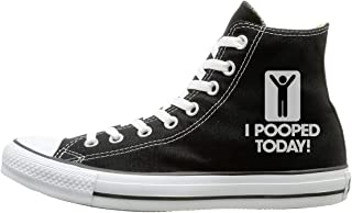 Canvas Shoes I Pooped Today Casual High-Top Lace Ups Sneaker For Men Women