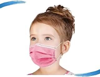 Máscara Descartável Infantil Dupla Proteção Miralupa C/Filtro e Clipe Nasal 50 Un Rosa