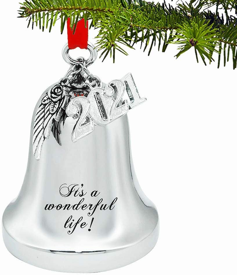 Sales for sale JUPPE Silver Engraved Finally resale start It's A Life Christmas Bell Wonderful Ornam