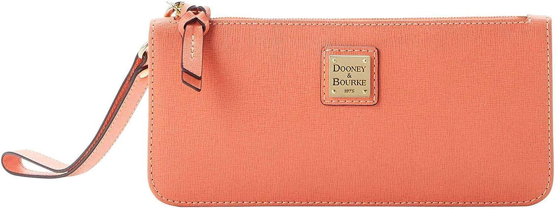 Dooney & Bourke Womens Saffiano Leather Tatum Snap Button Wristlet Wallet
