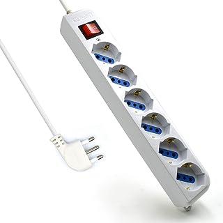 Ciabatta XL 10 spina Protezione Contatto 10 volte 3 M cavo ciabatta di alimentazione