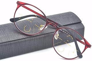 Anti Blue Ray progressieve multifocale leesbril, Reader brillen, Anti-Glare UV-bescherming Computer bril voor mannen en vr...