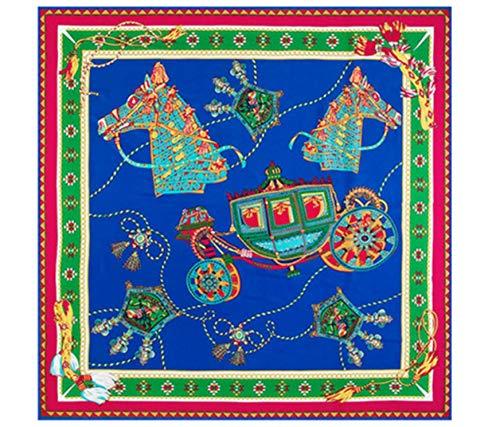 Emilie Scarves - Zijden sjaal vierkant groot verpakt in giftbox - Gekleurd oversized