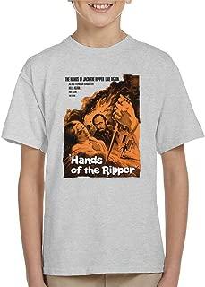Hammer Horror Films Hands of The Ripper Movie Poster Kid's T-Shirt
