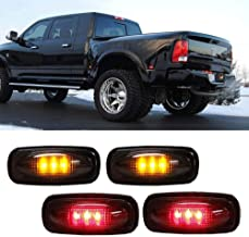 iJDMTOY Smoked Lens Amber/Red LED Rear Bed Side Marker Lights Set For 2003-2009 Dodge RAM 2500 3500 Heavy Duty Dually Truck Double Wheel Side Fenders