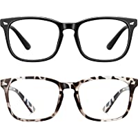 2-Pack Wearpro Blue Light Blocking Square Computer Glasses