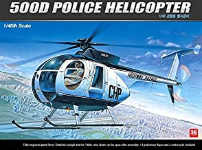 ACADEMY aircraft 1/48 model 12249 US Ed Hughes 500D police helicopter