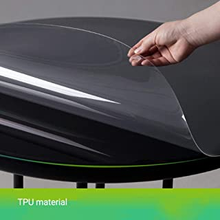 Household Transparent Table Cover Heat and Moisture Resistance Table Protector Round Waterproof Dining TPU Table Cover for...