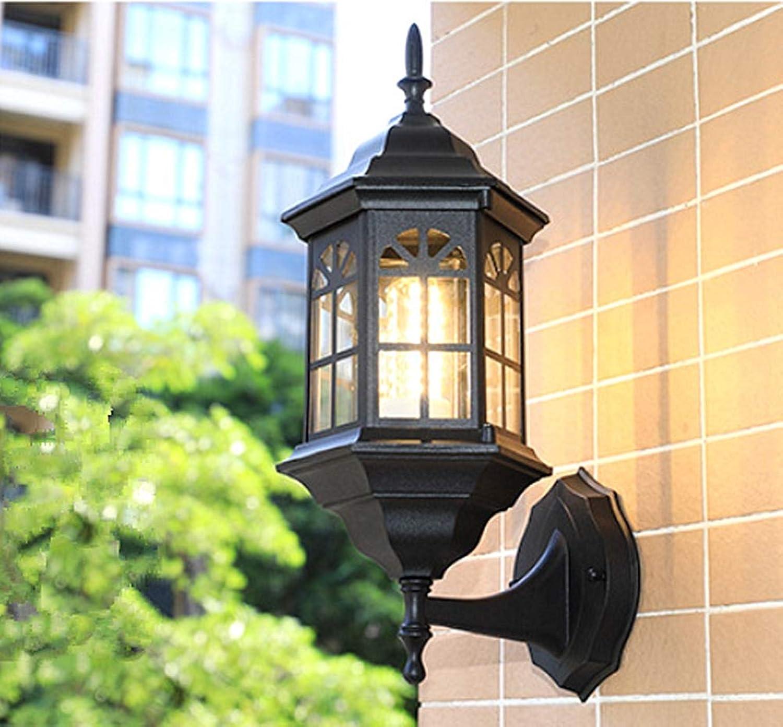 Phil Wall Lamp Vintage Wandleuchte Auenwandleuchten E27 Lichtquelle Wasserdicht Anti-rost Villa Garten Gartenlicht Im Freien,Bschwarz2042cm