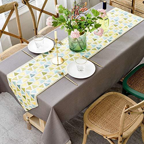 Chemin De Table Nappe style nordique ins table basse nappe tissu coton lin petite nappe de bureau fraiche table américaine drap de table rectangulaire nappe param perles nappe grise, 110 * 170cm