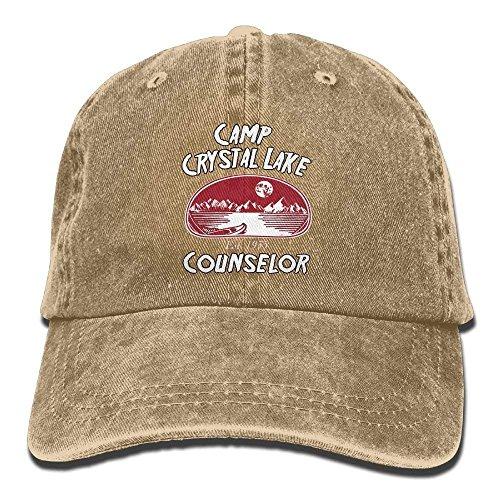 Camp Crystal Lake Counselor Denim Hat Ajustable Hombre Surf Gorras de béisbol H0991