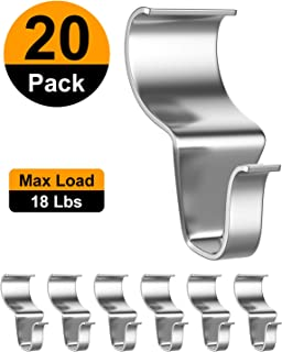 Vinyl Siding Hooks Hanger, 20 Pack- Heavy Duty Stainless No-Hole Needed Vinyl Siding Clips for Hanging- Vinyl Siding Hooks for Outdoor Decorations