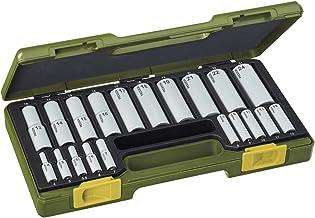 Proxxon 23292 zestaw specjalnych gniazd, srebrny/zielony, 1/4-1/2 cala, zestaw 20 sztuk