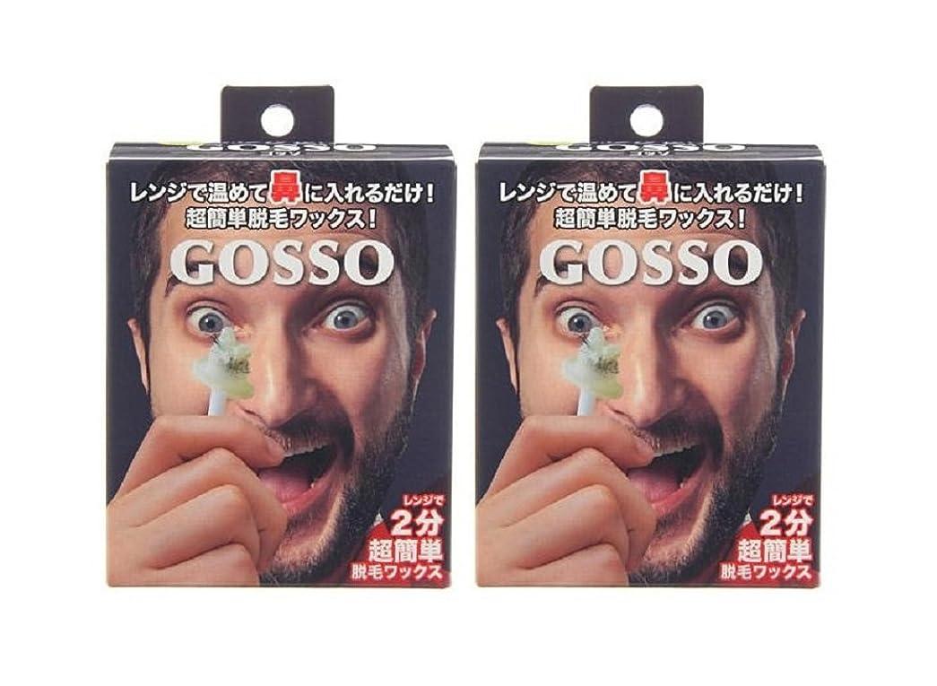 ポインタ彼らのものその後GOSSO ゴッソ 鼻毛脱毛ワックス 両鼻10回分×2箱セット