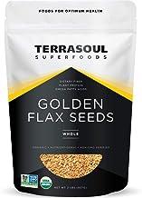 Terrasoul Superfoods Organic Golden Flax Seeds, 2 Lbs - Fiber | Protein | Omega Fats
