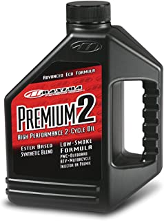 Maxima (219128) Premium 2 Smokeless 2-Stroke Premix/Injector Oil - 1 Gallon
