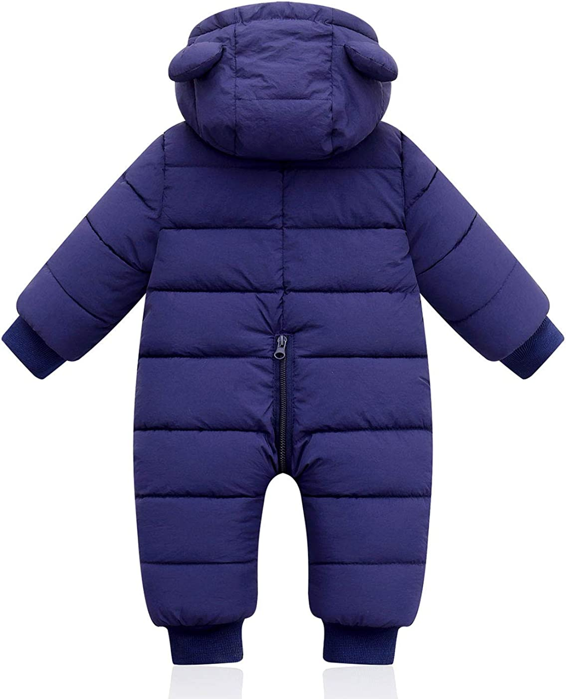 Maeau Baby Snowsuit with Hood Boy Girl Jumpsuit Winter Toddler Winter Clothes Coat Baby Romper Hoodie Infant Outwear Ski Suit Kids 3-36 Months
