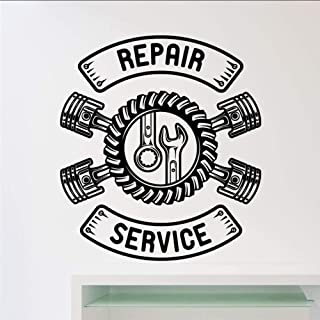 Sticker Mural Accessoires De Décoration De La Maison Service De Réparation De Voiture Sticker Mural Atelier Clé De Garage ...