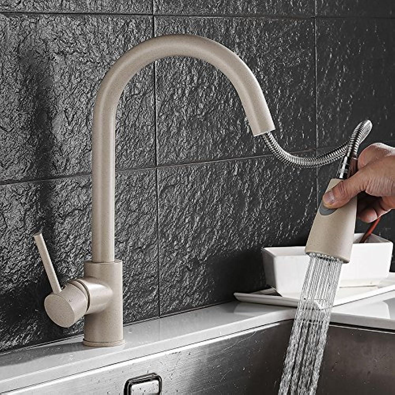 Mangeoo Küchenhahn Quarz Stein Pull-Typ Wasserhahn Hei Und Kalt Wasser Dreh Extraktion Hafer Farbe Waschbecken Wasserhahn