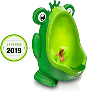 Frog Potty Training Urinal for Boys Toilet with Funny Aiming Target - Green