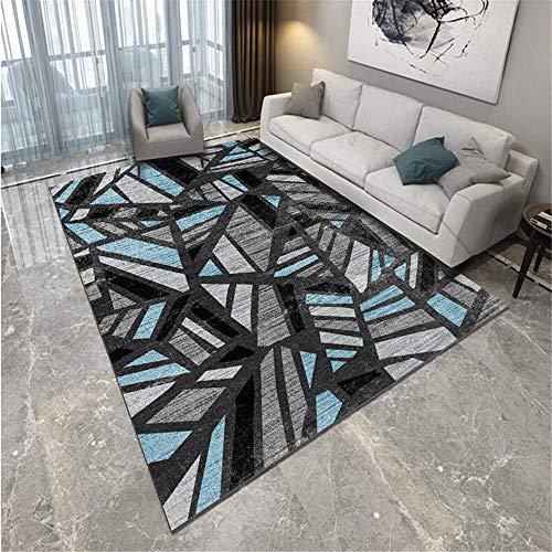 DJHWWD Carpet Floor grey Carpet gray blue messy geometric pattern soft living room carpet anti-slip Small Rugs And Mats 200X300CM Carpet For Kids 6ft 6.7''X9ft 10.1''
