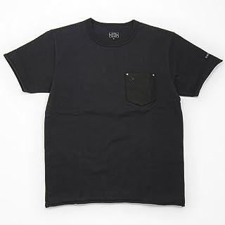 (ショット) Schott 半袖 鹿革 ポケットTシャツ ワンスター ブラック×ブラック 3163030-08
