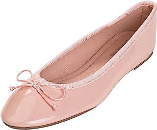 4f11e7f8720 Feversole Women s Macaroon Colorful Memory Cushion Insock Patent Ballet Flat