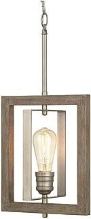 Home Decorators Palermo Grove 1-Light Antique Nickel Mini-Pendant