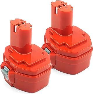 ADVNOVO 2 stycken 14,4 V 3,5 Ah Ni-MH batteri för Makita PA14 1420 1422 1433 1435 1435F 192600-1 193985-8 192699 193157-5 ...