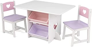 KidKraft Heart Table and Chair Set, Pastel (26913)