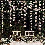Decor365 グリッター シャンパン ゴールド デコレーション 紙 サークル ドット ガーランド パーティー ストリーマー バンティング 背景 ぶら下がり 装飾 バナー 結婚式 独身 ブライダル シャワー クリスマス 新年 ホーム エンゲージメント