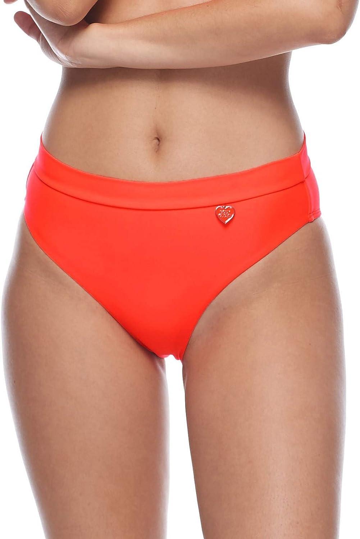 Body Glove Women's Standard Smoothies Marlee High Waist Solid Bikini Bottom Swimsuit