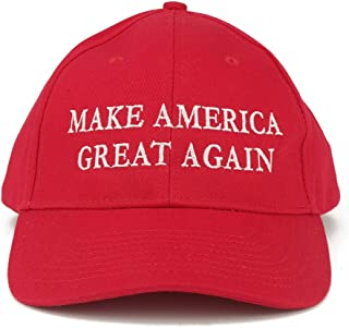 Armycrew Made in USA Donald Trump Structured Cotton Cap - Make America Great Again Embroidered