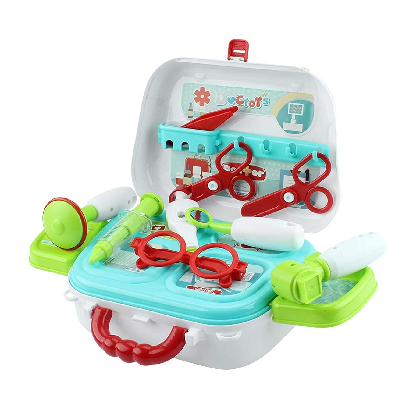 植物学者ごちそうデータムMonland キッズドクターセットおもちゃ プレイセットごっこ遊びロールプレイドクターキットおもちゃ 収納ボックス付き 男の子女の子幼児誕生日ギフト