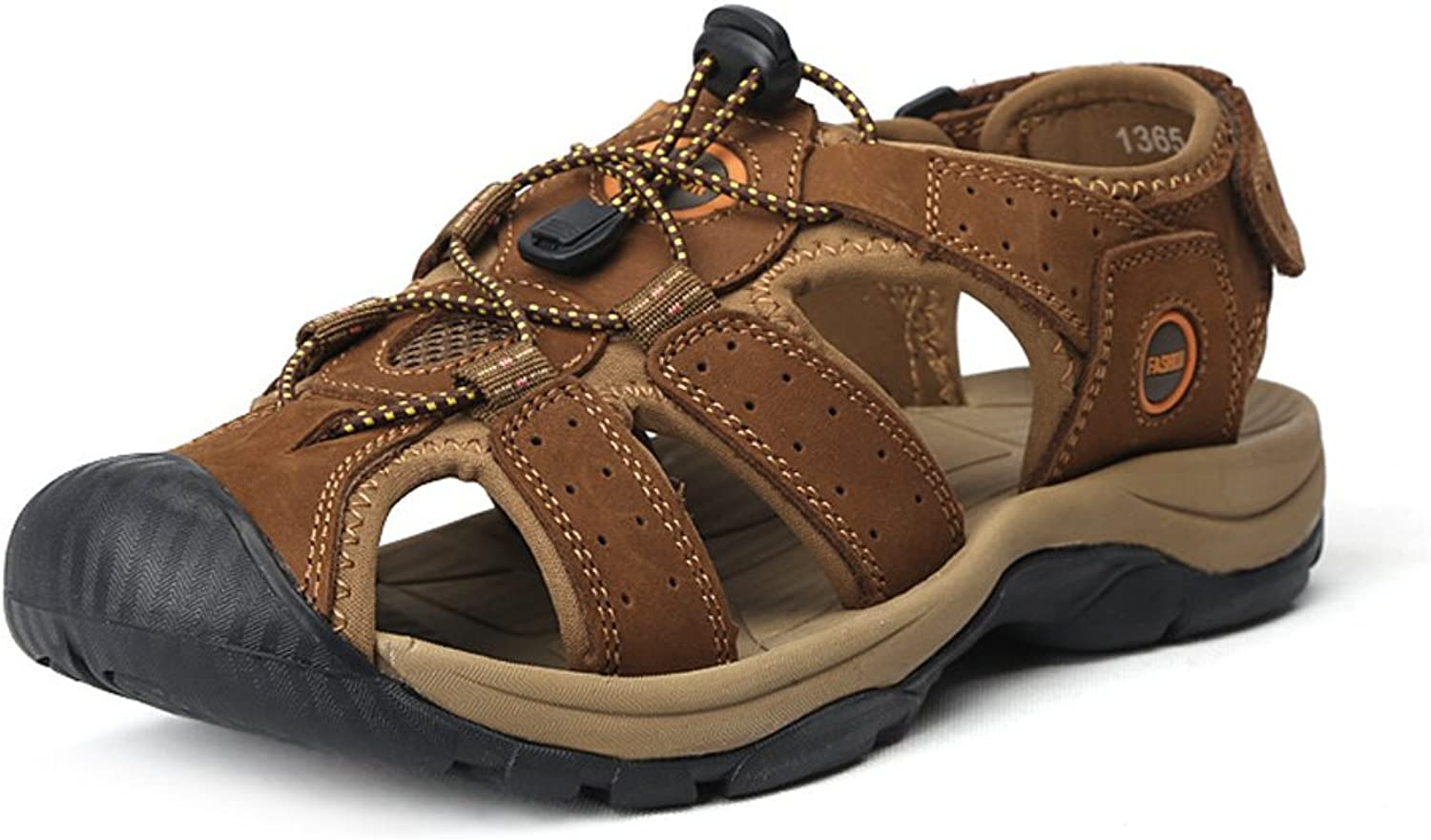 Tuoup Women's Leather Athletic Beach Sandals Hiking Sandles