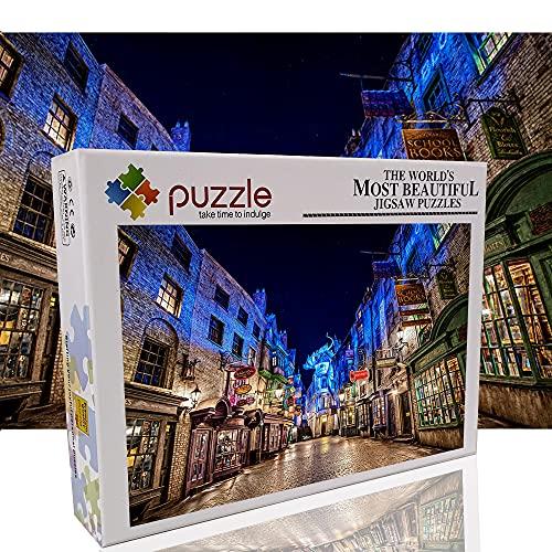 Universal Studios Harry Potter Rompecabezas de 1000 Piezas para Adultos niños Serie de Ciudades Rompecabezas de descompresión de Bricolaje 1000 Piezas decoración del hogar destacada 70x50cm