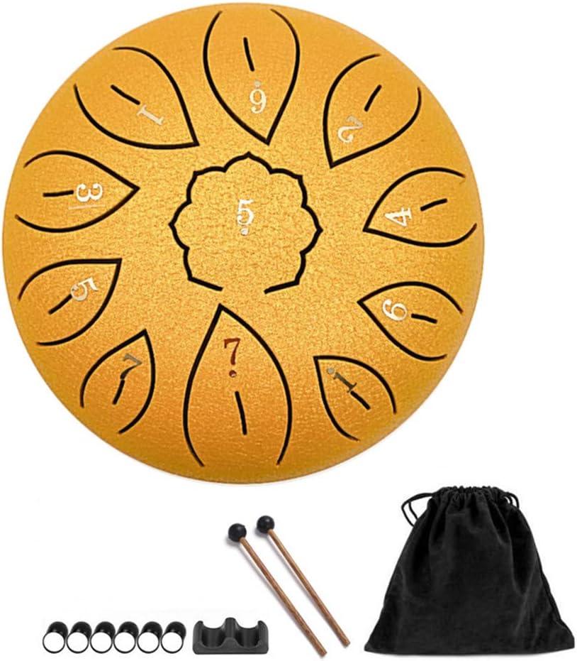 la m/éditation Hang Drum 15,2 cm 11 notes en acier Kit de percussion avec mailles//prot/ège-doigt//sac utilis/é pour l/éducation de la musique la gu/érison le yoga